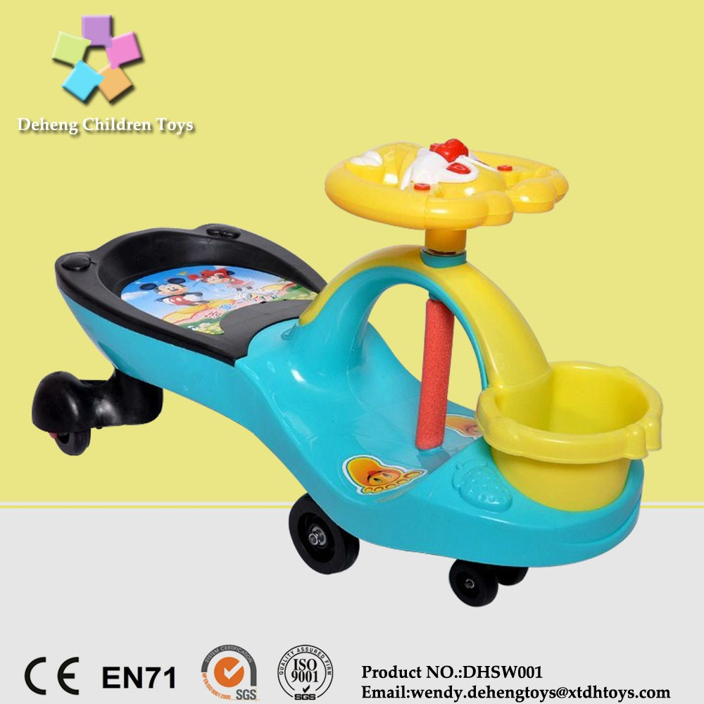 2016 xingtai factory foot pushing electric swing car baby swing car