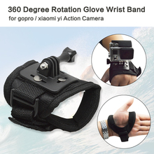 Go Pro Accessories 360 Degree Rotation Glove style Wrist Hand Band Mount Strap For GoPro Hero 4/3+/3/2/1 Xiaoyi Action Camera