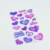 Glitter Color Heart Shape PVC Promotional Gifts Decorative Puffy Sticker For Kids