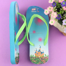Custom printing design rubber women sexy design flip flop 2016