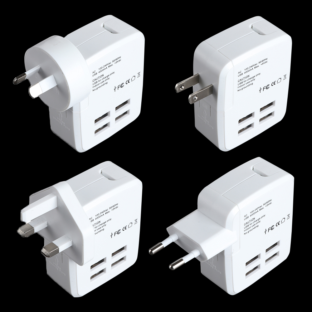 The new USB plug 4U GSM multifunctional gifts travel universal conversion socket