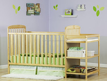 Hot sale bamboo 2 in 1 Full Size Crib and bamboo Changing Table Combo baby bed bay cot and new design changing table