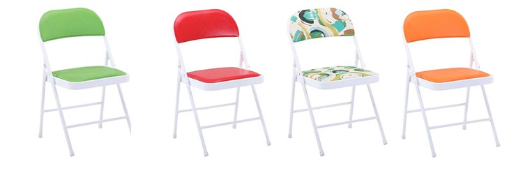 Colorful Padded Metal Folding Chairs With petitive Price Buy Metal Foldi