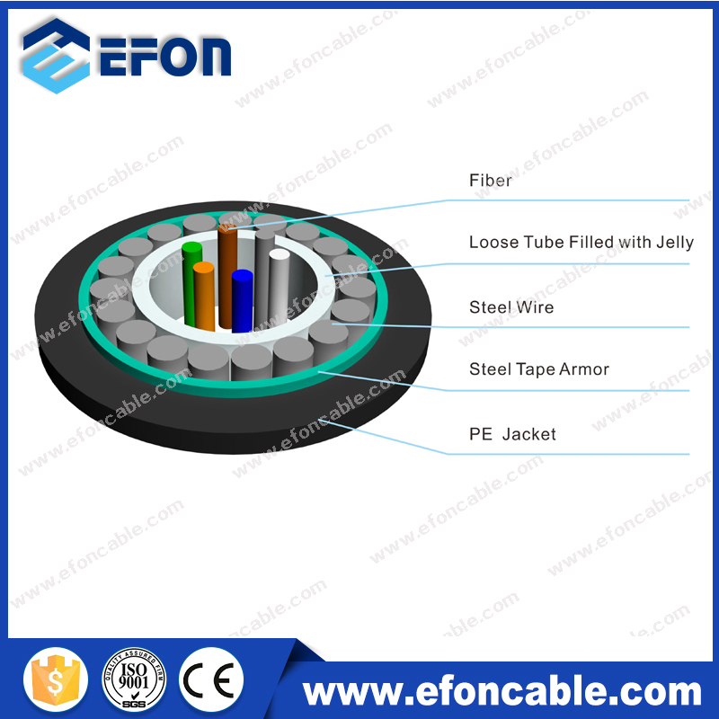 8 12 24 SingleMode Armoured Fiber Optic Cable Manufacture/Wire Cable Price per meter