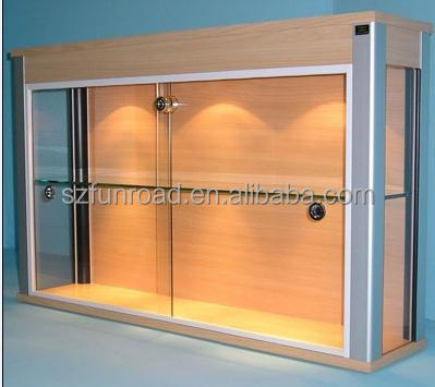 wall mount display cabinet with led lights