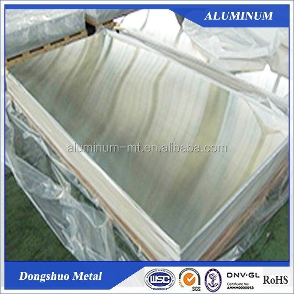 6082 T4 Polished aluminum mirror sheet printing