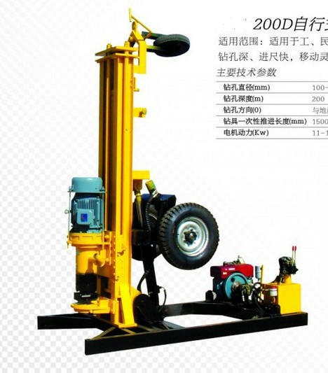 La-dr150D vertical drilling machine/ rock drilling machine with video