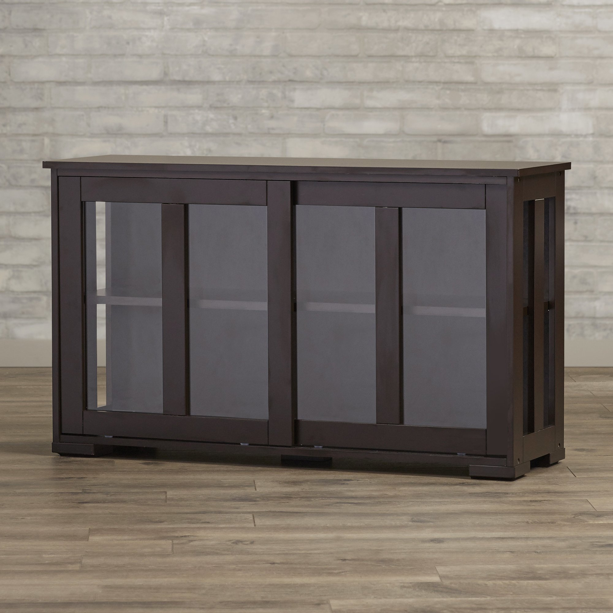 Get Quotations Buffet Cabinet With Sliding Tempered Gl Doors For Kitchen Or Dining Room Contemporary Espresso Sideboard