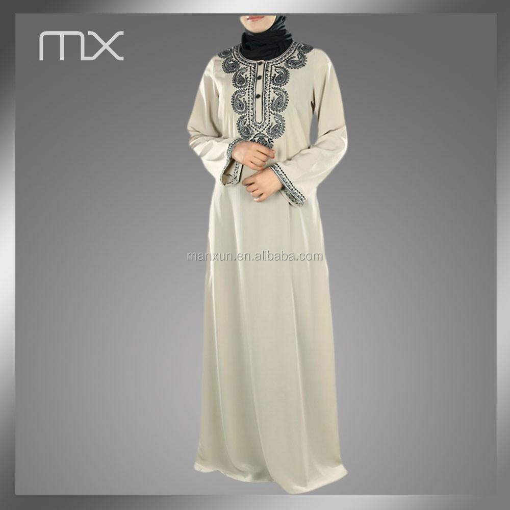 Mooi patroon borduren abaya jilbab islamitische vrouwen for Islamitische sportkleding vrouwen