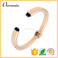 Stainless Steel Cuff Plated 14k Gold Bracelet