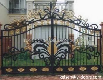 Elegant design wrought iron swing opening gate buy beautiful entrance gate designs entrance - Wrought iron indoor decor classy elegance ...