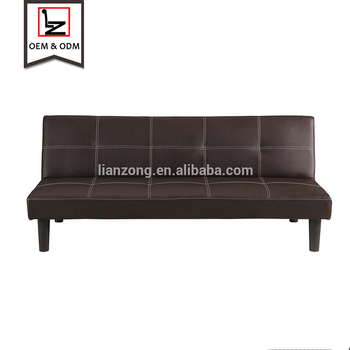 Pu Leather Convertible 3 Seater Sofa Bed Futon Cheap Black Product On Alibaba Com
