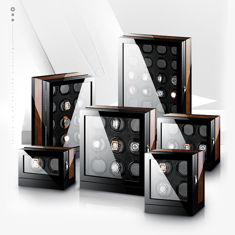 (High) 저 (-끝 마부 motor 자동 Wristwatch Performance 개선 나무 led Watch Winder