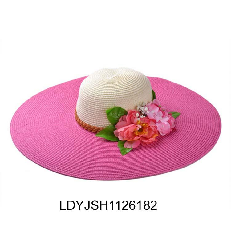 High quality natural craft straw hats for ladies