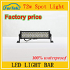 100% waterproof 72W car led light bar led spot light 12 inch factory price