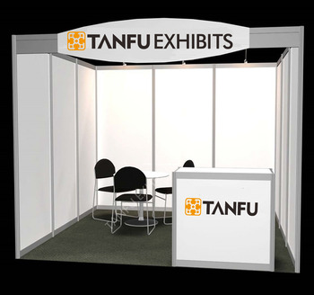 3x3 Or 10x10 Trade Show Or Expo Standard Exhibition Booth
