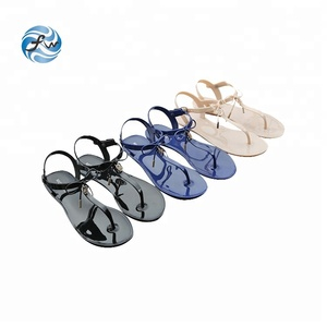 9fa0adcfc985 New design pvc Bow women summer sandals jelly shoes
