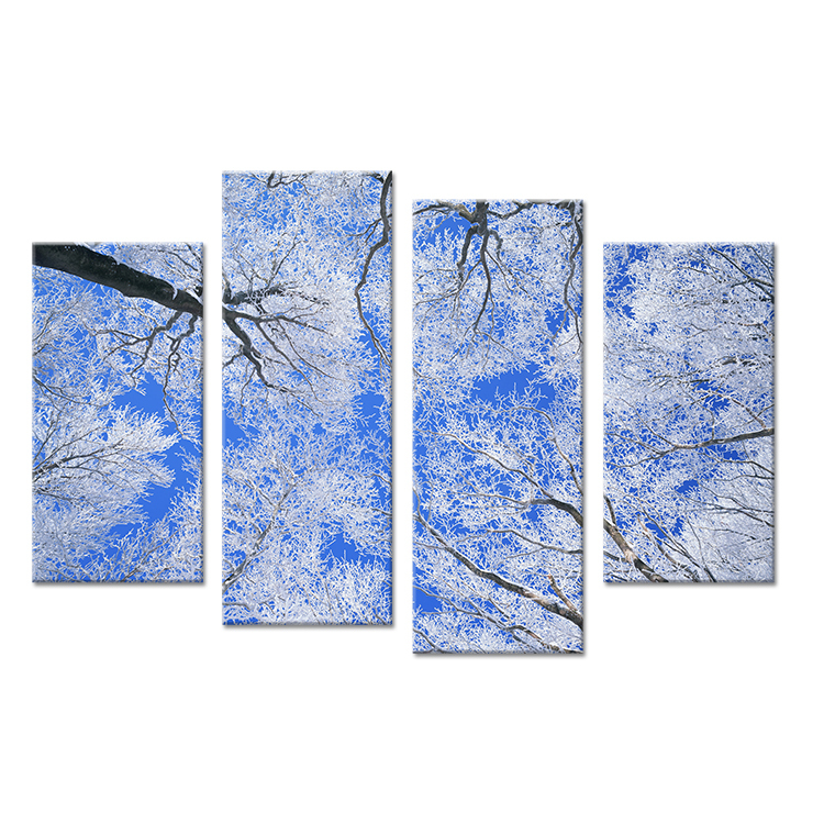 4PCtree arts in winter living rooms set Wall painting print on canvas for home decor ideas paints on wall pictures art No framed