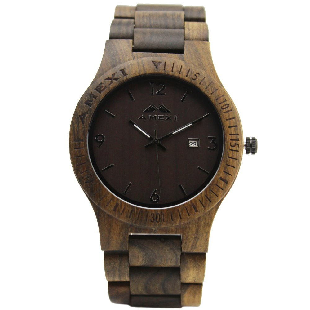AMEXI collection black wood mens watch , mens wrist watch ...