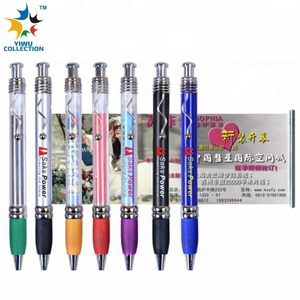2018 Wholesale Custom Promotional Ball Point Pen, Plastic Banner Pen,Retractable Cheap Banner Pen