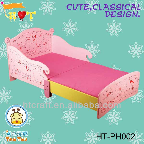 Ht ph002 2013 hot pink princess dise o mdf de madera ni as - Disenos de camas para ninas ...