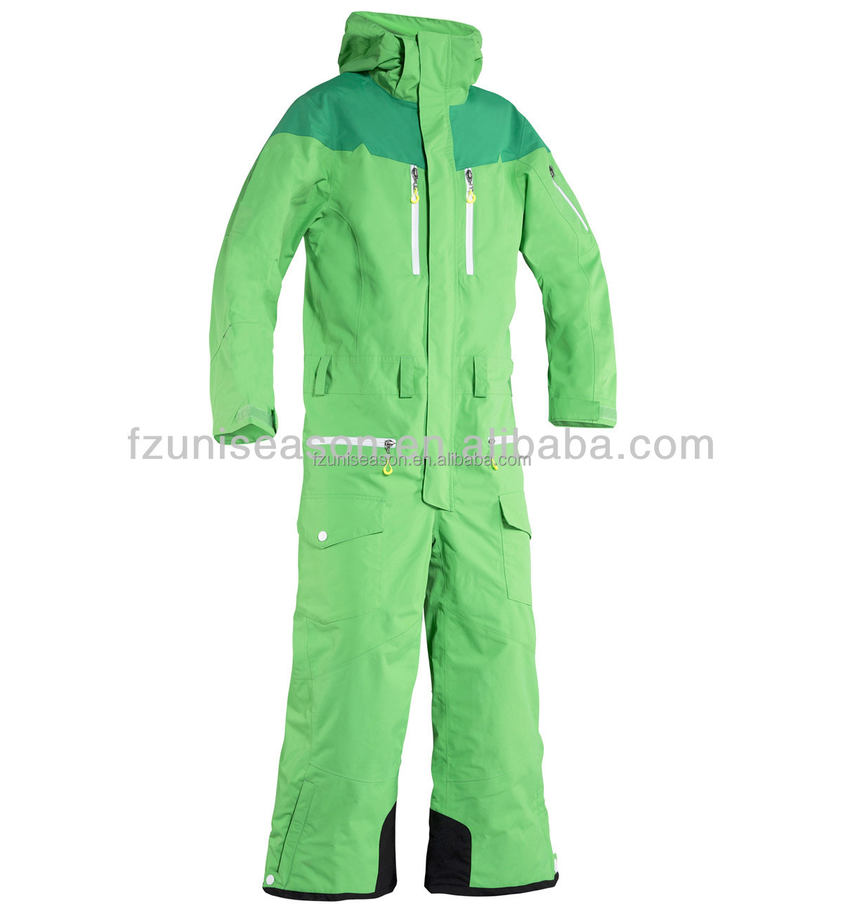 Uniseason winter adult one piece snow suits