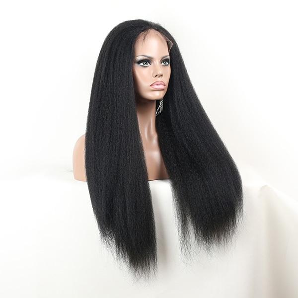 28ef669f65035 خصم كبير غريب باروكة شعر مستقيم 100% اطفال الأصل الأفرو مجعد الشعر المستعار  الدنتلة الجبهة
