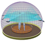 SNOWHITE 360 degree 5 meter diameter dome projection screen