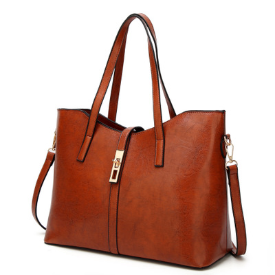 Handbag lady's bag European style bag simple and versatile lady's bag tote handbag with <strong>shoulder</strong>