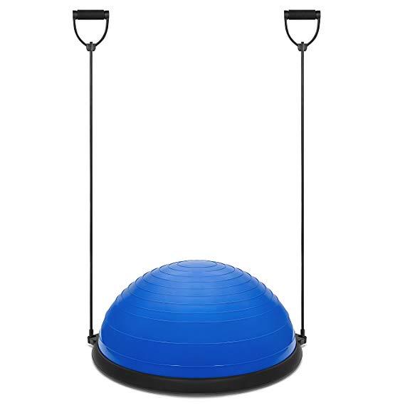 Nova Função de Massagem Meia Bola de Equilíbrio Trainer para Fitness Pilates