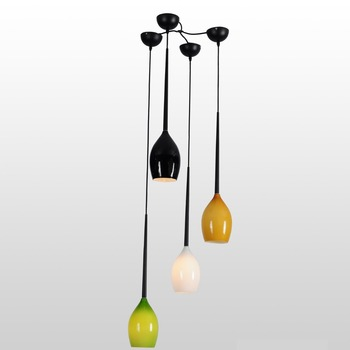 Md6010-1 Set Of Four Pendant Lights Glass Dining Room Decorative ...