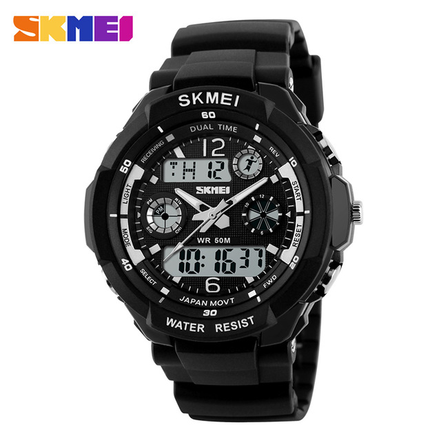 2018 Top Sale 0931 ABS Plastic Case Man Sport Analog Digital Multiple Function Original Skmei Watch фото