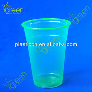 green disposable freeze cup