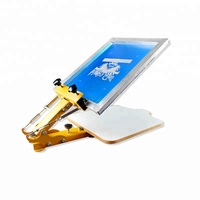 Cheap simple one color screen press in china
