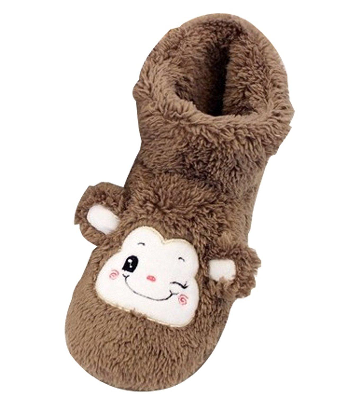 Cattior Womens Fleece Cute Warm House Shoes Slipper Boots