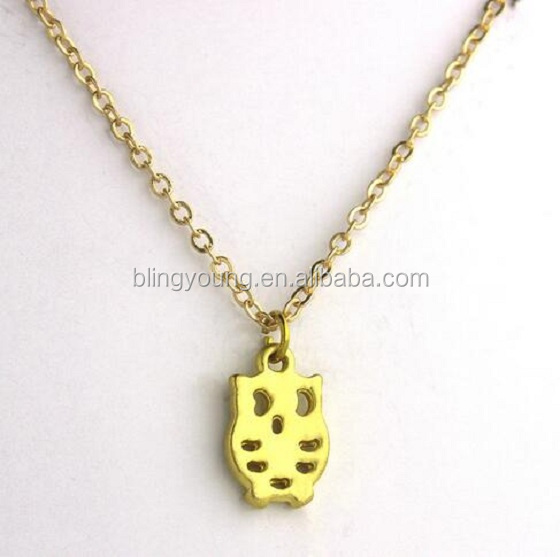 Women jewelry accessories beautiful gold owl pendant necklace
