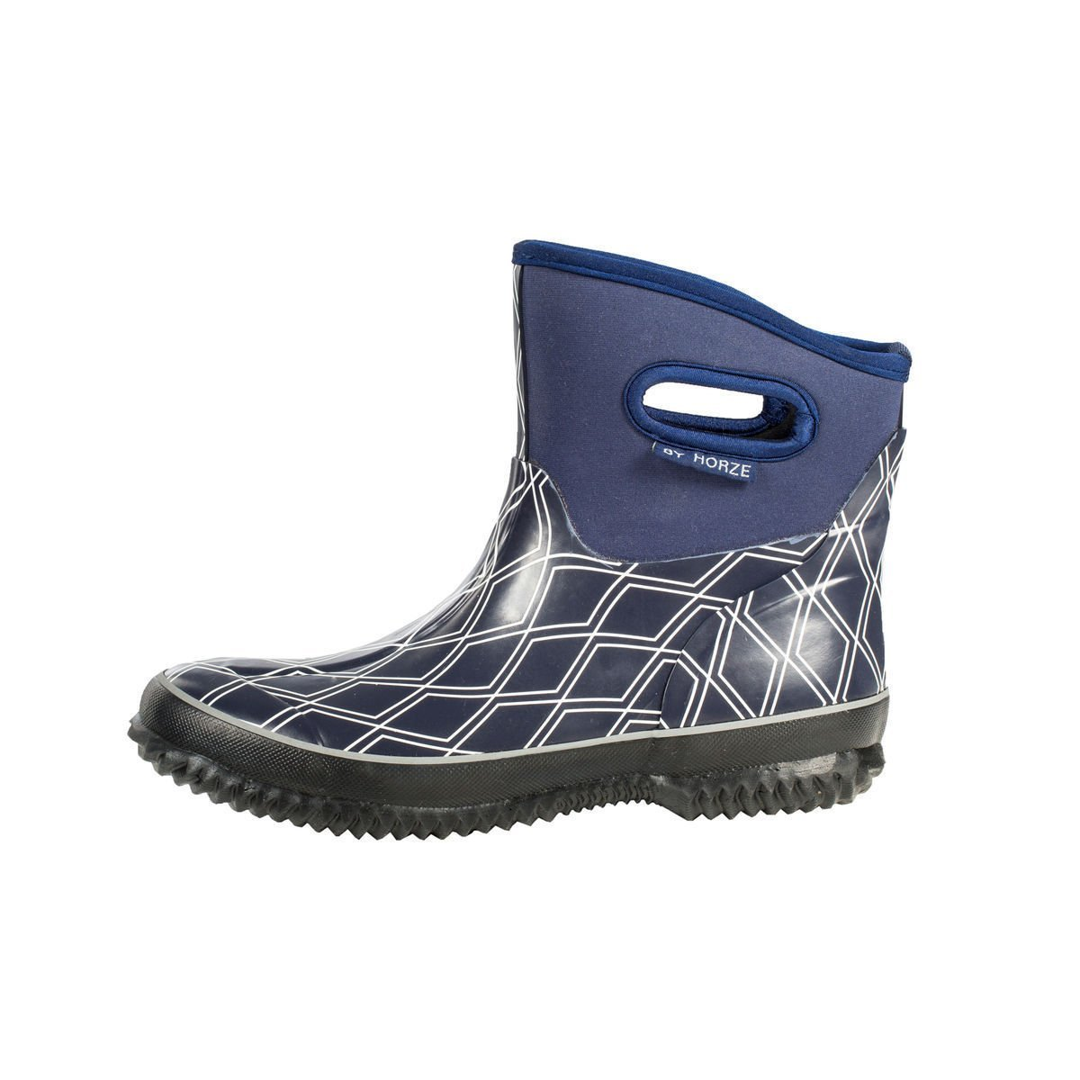 4f9ab85cd186f Buy Horze Blue Neoprene Rubber Rain Barn Farm Muck Pull On Boots ...