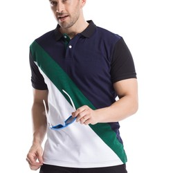 2018 nice new model polo 100% cotton accept design OEM man polo tshirt