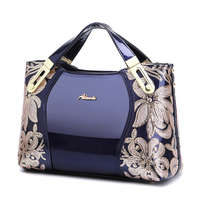 New Women's Bag 2019 European and American Fashion PU Leather Embroidery Single Shoulder Slant Handbag