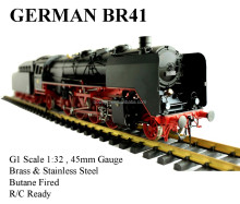Wuhu Brand Arts & Crafts Co , Ltd  - G scale live steam locomotive,O