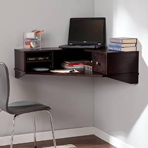 Office Desk Furniture, Office Desk Organizer, Computer Desks, Student Desks, Writing Desks, Wall Mount Corner Desk In Espresso Finish