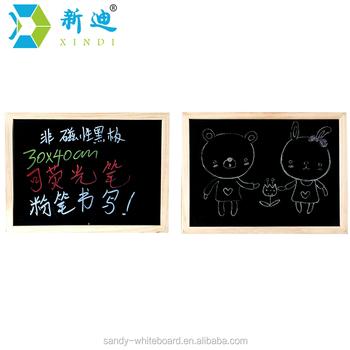 Mdf Frame Chalkboard 30x40 - Buy Mdf Frame Blackboard For Cafe,Mdf ...