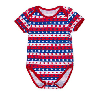 f1ef97ff0699 Wholesale Soft Baby Plain Cotton 4th July Baby Rompers - Buy Plain ...