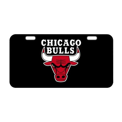 "Fashion Design Custom Chicago Bulls Custom Metal License Plate for Car Metal License Plate Cover for Car 11.8"" X 6.1"""