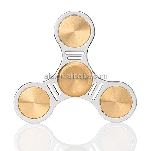 Hand Fidget Toys Spinner Perfect for ADD ADHD Anxiety and Autism Adult Children Gold