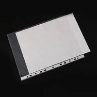 Factory made plastic 11 hole sheet protector A4 PP document file holder