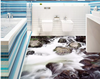 Super high - definition large rock running water 3D floor stickers