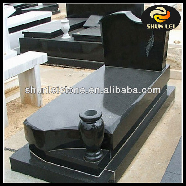 China black granite unique cemetery headstones