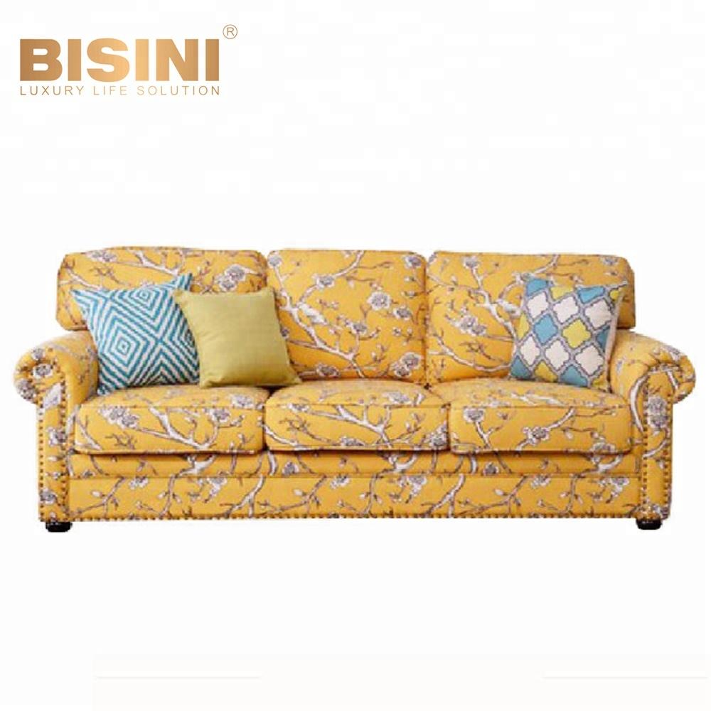 Bisini American Style Flower Print Sofa