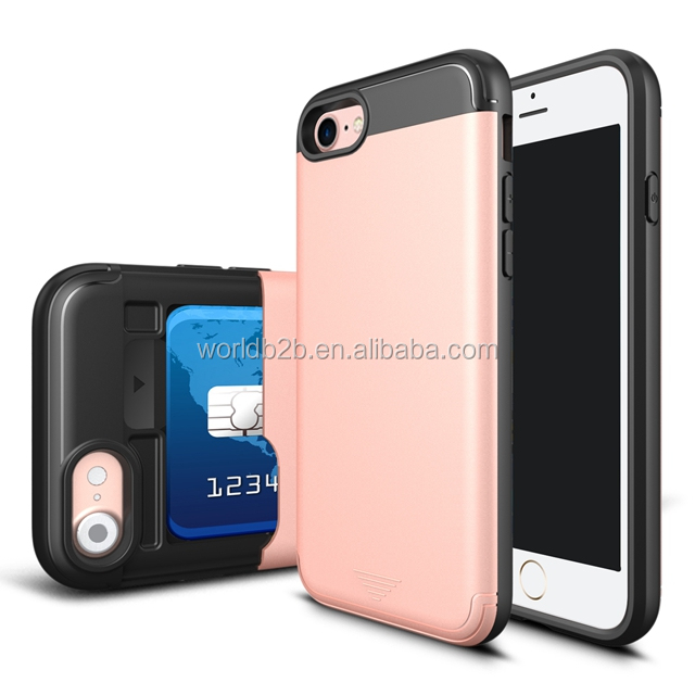 Perfect fit card slot slide phone case for iphone6